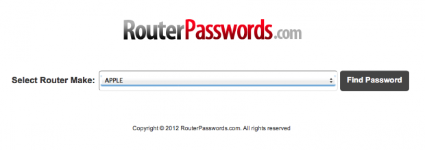 routerpasswords