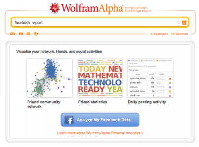 wolfram-alpha -facebook-report