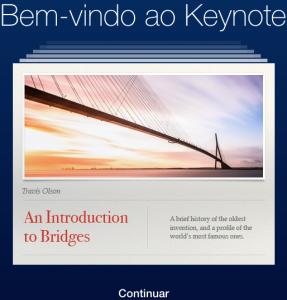 keynote-icloud-bem-vindo