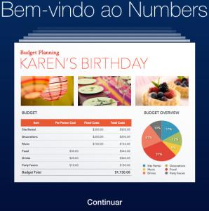numbers-icloud-bem-vindo