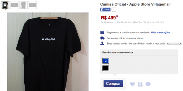 camisa-apple-store-villagemall-mercado-livre