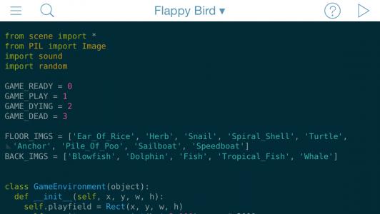 Pythonista-flappy-bird