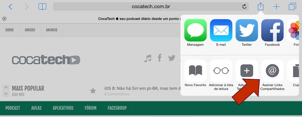 iOS-8-assinar-links-compartilhado