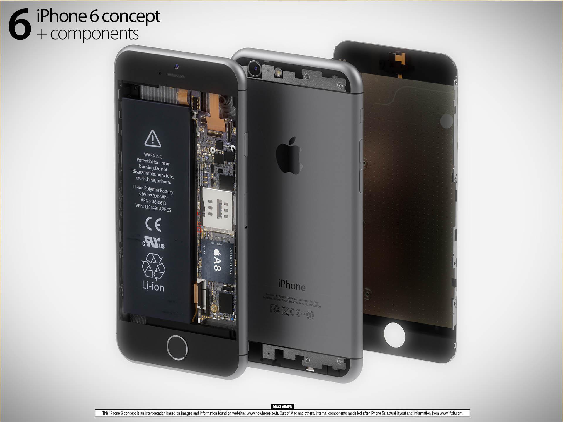 Render detalhado do iPhone 6 com tudo que se acredita até o momento