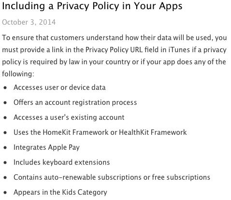 apple-exige-politica-de-privacidade-para-alguns-apps