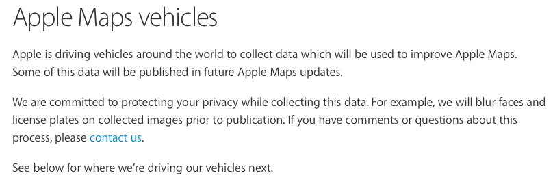 apple-confirma-veiculos-para-aprimorar-seus-mapas