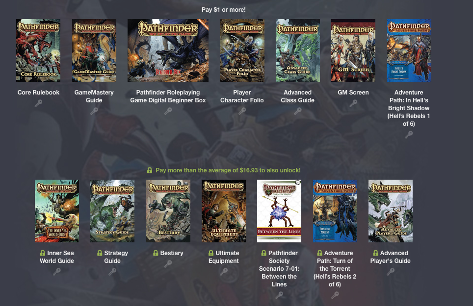 Humble Bundle Pathfinder RPG